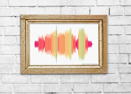 colorful sound wave art