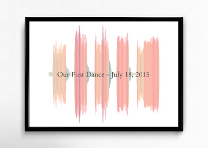custom sound wave art with frame